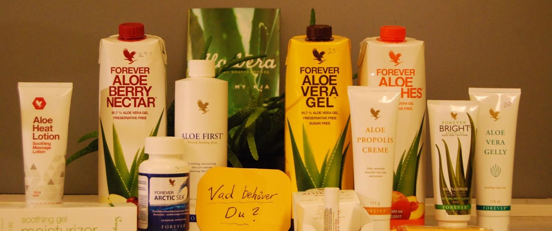 Suzannes massage Aloeveraprodukter
